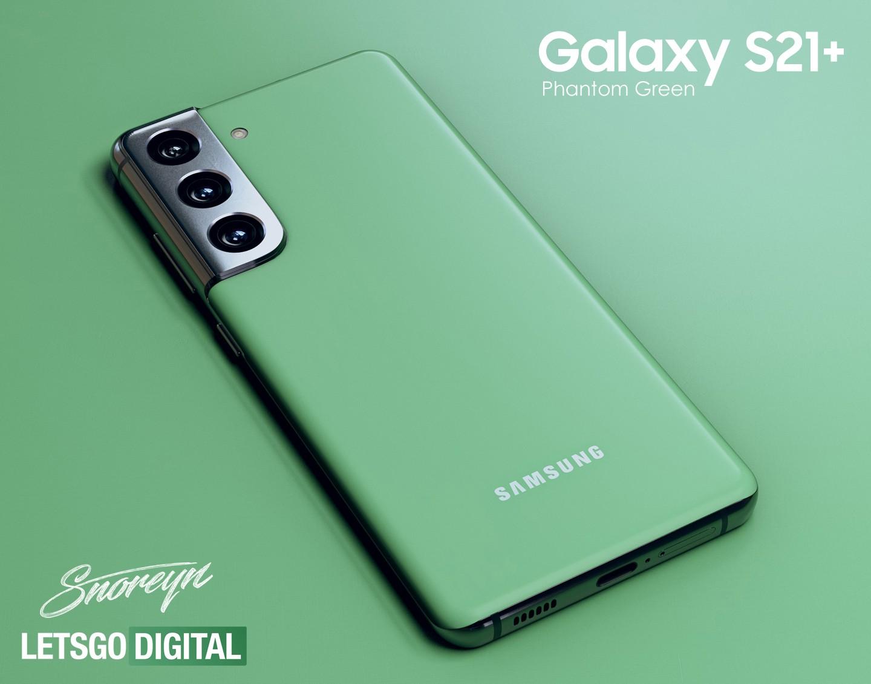 Galaxy S21+ xuất hiện phiên bản màu xanh cực bắt mắt 2