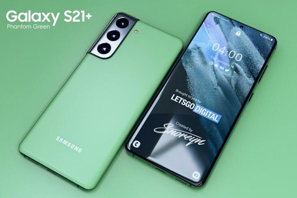 Galaxy S21+ xuất hiện phiên bản màu xanh cực bắt mắt