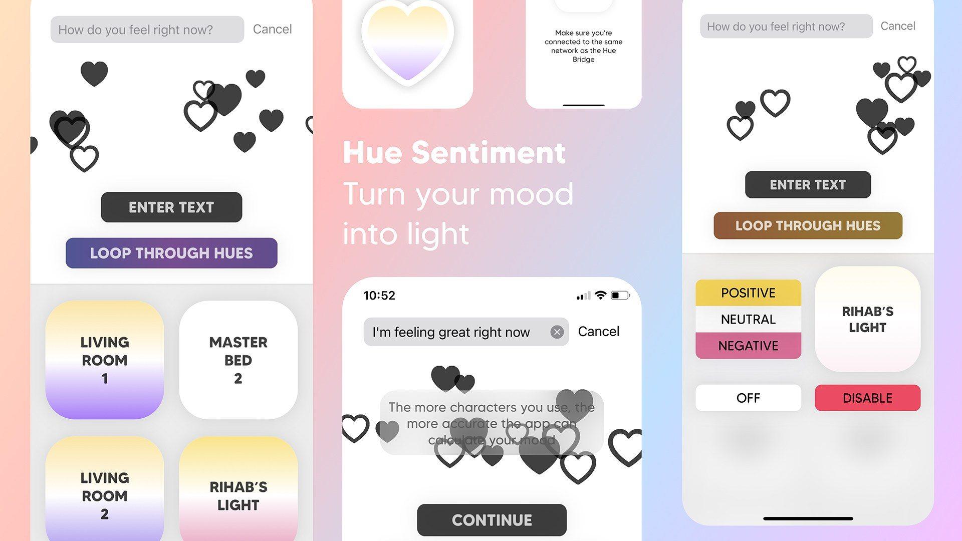 Hue Sentiments: ứng dụng iOS điều chỉnh Philips Hue dựa trên tâm trạng 1