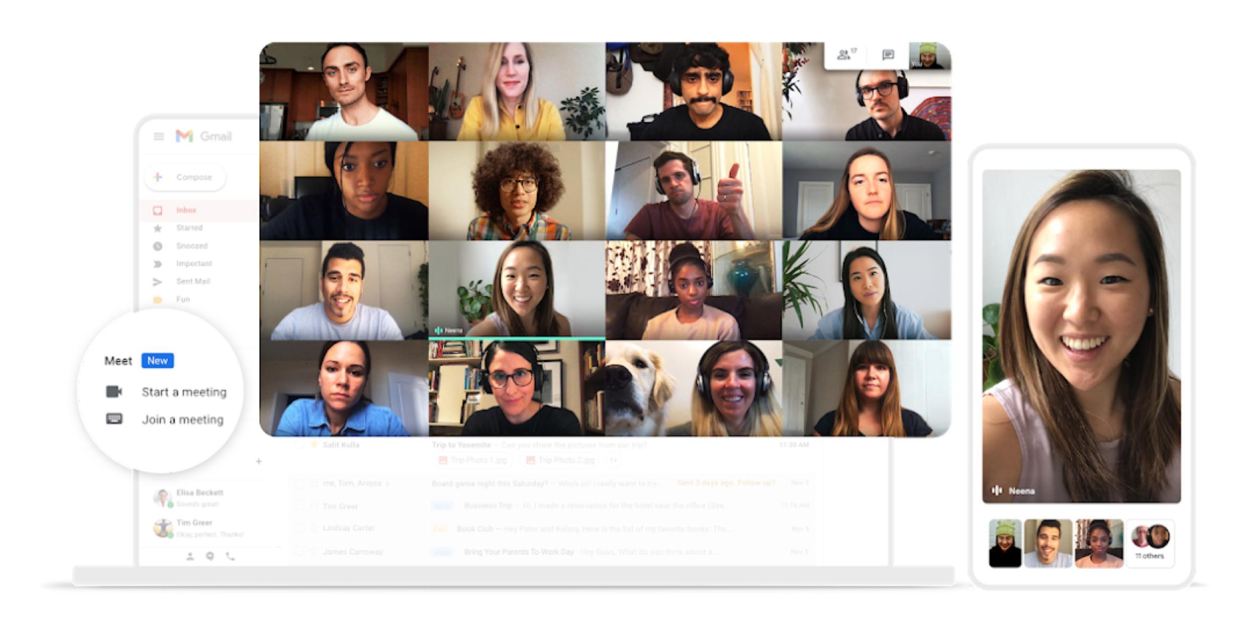 Google Gặp mở rộng 'không giới hạn' cuộc gọi video miễn phí tài khoản Gmail đến tháng 6