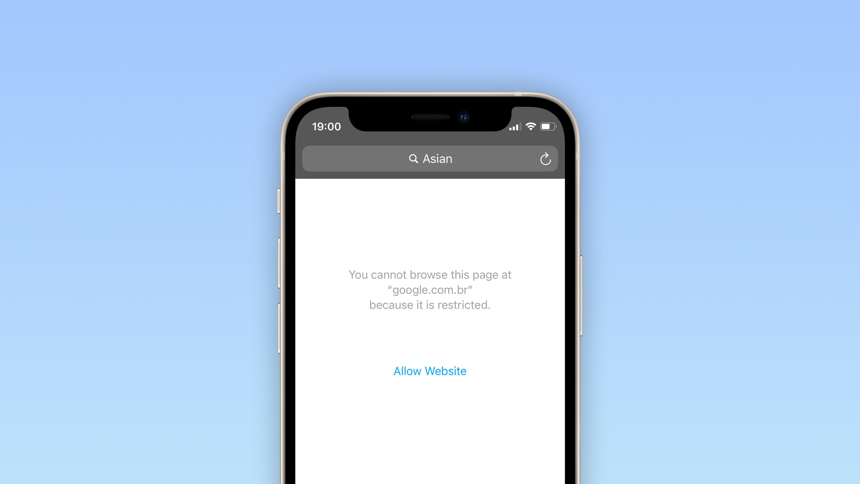iOS 14,5 không chặn các tìm kiếm web cho 'Châu Á'  Safari bật hạn chế nội dung