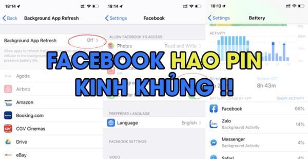 Thủ thuật khắc phục Facebook ngốn pin, tốn dung lượng