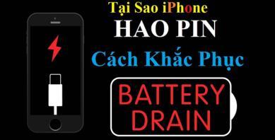 Top 10 lý do gây hao pin iPhone nguy hại tránh ngay (Phần 1)