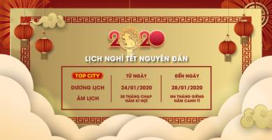 TOP CITY thông báo lịch nghỉ Tết Nguyên Đán 2020