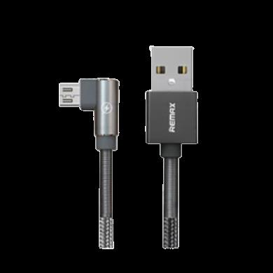 Cáp sạc vải quấn lò xo 2 đầu Micro USB Remax RC-119m