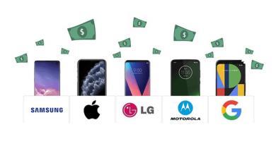 Điện thoại Android mất giá gấp đôi iPhone theo thời gian