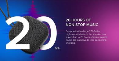 Loa Bluetooth ngoài trời Xiaomi Mi ra mắt, phát nhạc suốt 20 giờ, trả lời cuộc gọi, giá 455.000 đồng
