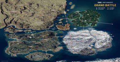 Ý tưởng bản đồ PUBG siêu to khổng lồ kết nối tất cả bản đồ hiện tại