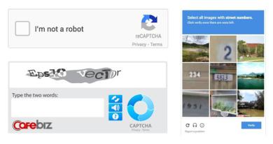 """Mô hình reCAPCHA: Biến người dùng Internet thành """"nhân công miễn phí"""""""