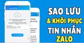Cách khôi phục tin nhắn Zalo trên điện thoại